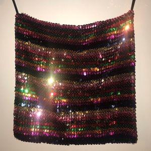 Dresses & Skirts - Rainbow sequin mini skirt